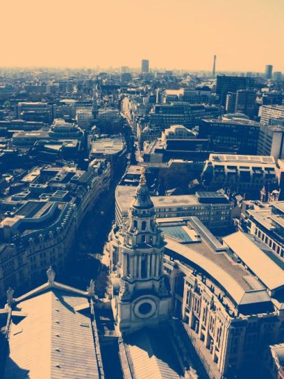 View from the top of St. Paul's Cathedral.