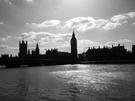 London in shadows.