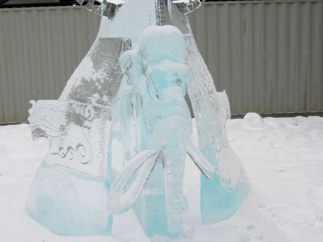 Mistress of the Permafrost sculpture