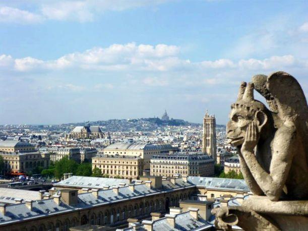 Gargoyle Over Paris