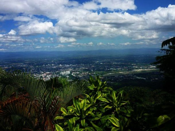 looking out over Chiang Mai, Thailand. One very special place.