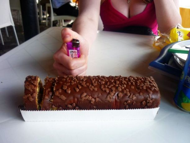 My 19th Birthday Cake and Lighter-Candle from Sophie and Alex!