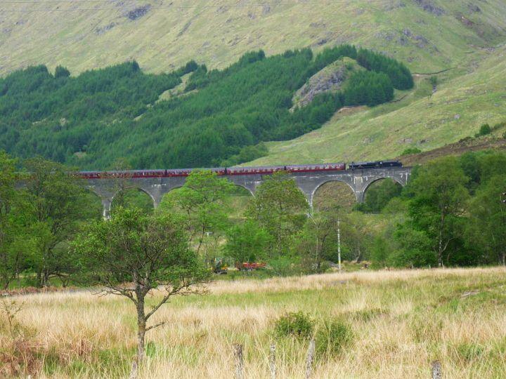 """Hogwarts"" train in th Scottish Highlands"
