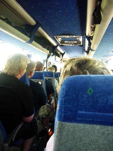 Inside of a Haggis Adventure Tours bus