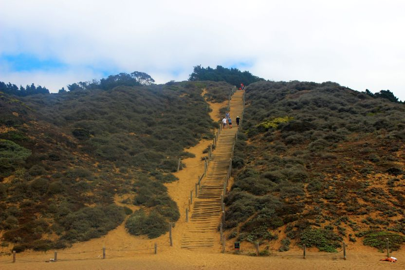 Sand Steps or Sand Ladder at Baker Beach