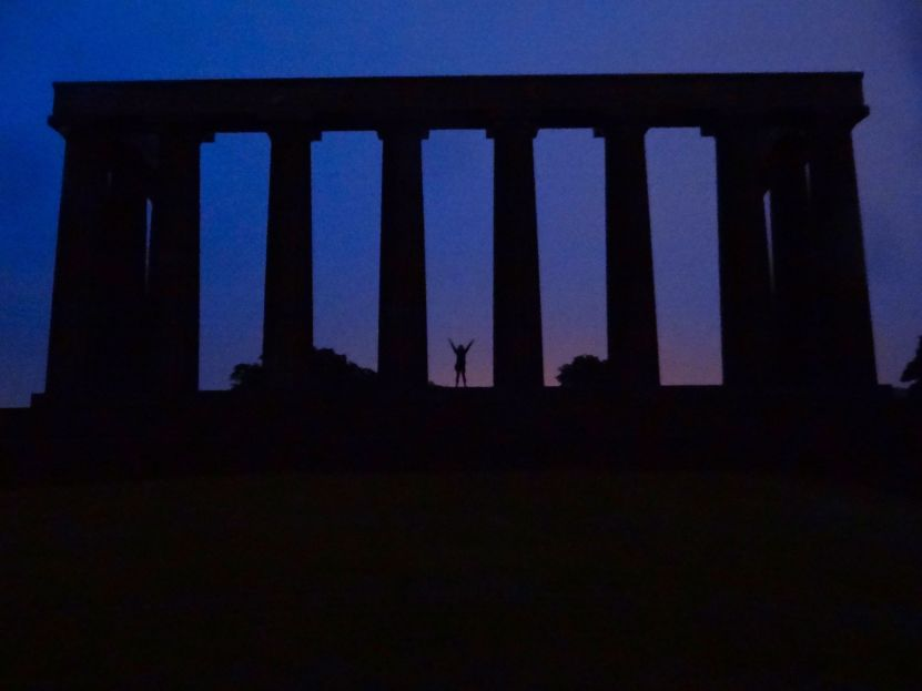 Calton Hill at dusk in Edinburgh, Scotland